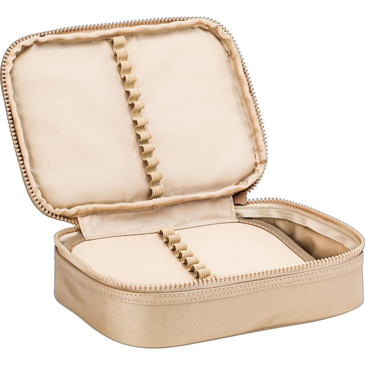 Estojo Box West Village Metalizado Dourado - Tilibra