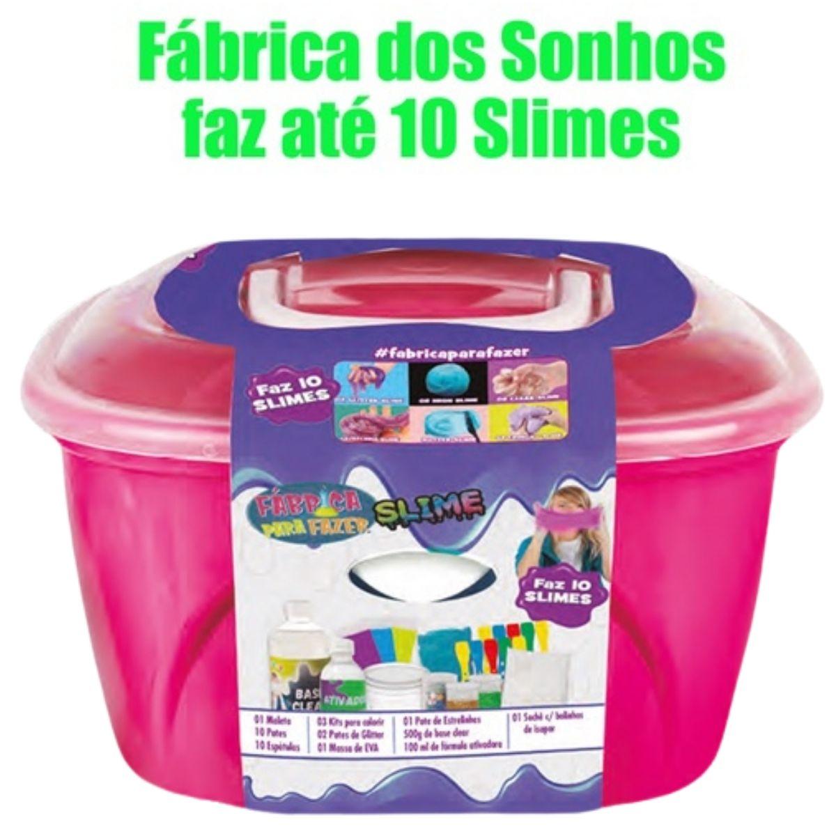 Fábrica Infantil Para Fazer 10 Slimes Massinha Com Acessórios