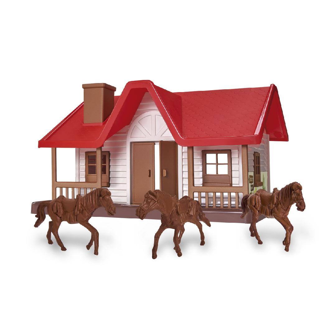 Fazendinha Infantil Rancho Com Cavalos Casa - Casinha Usual