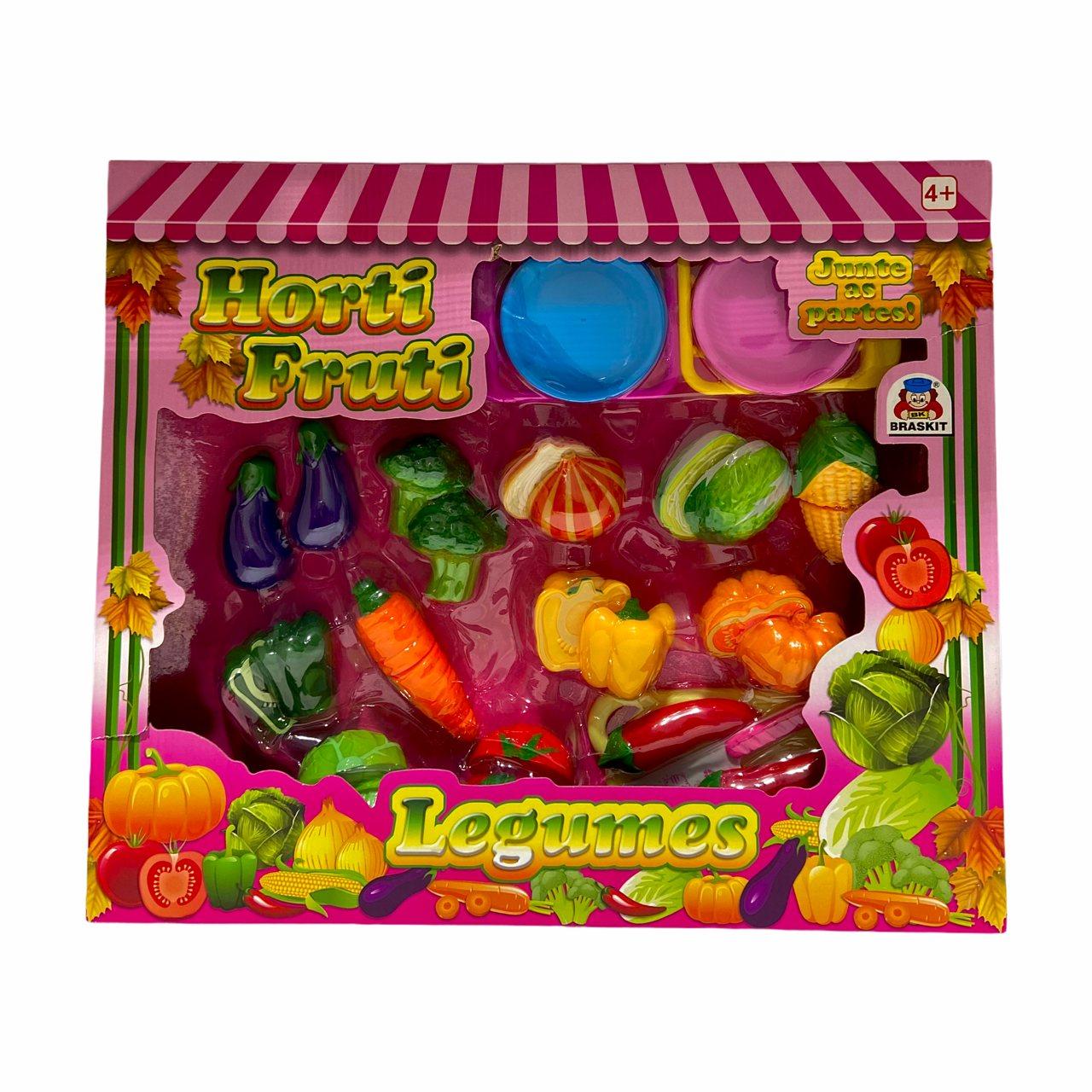 Horti Fruti Frutas ou Legumes Junte as Partes - Braskit