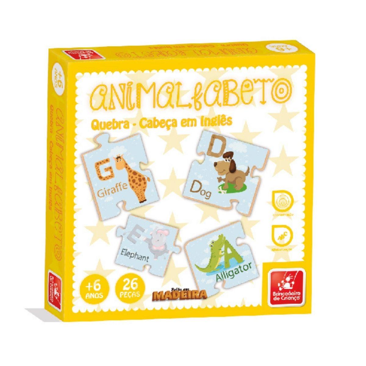 Jogo Animalfabeto Em Inglês Bilíngue Infantil