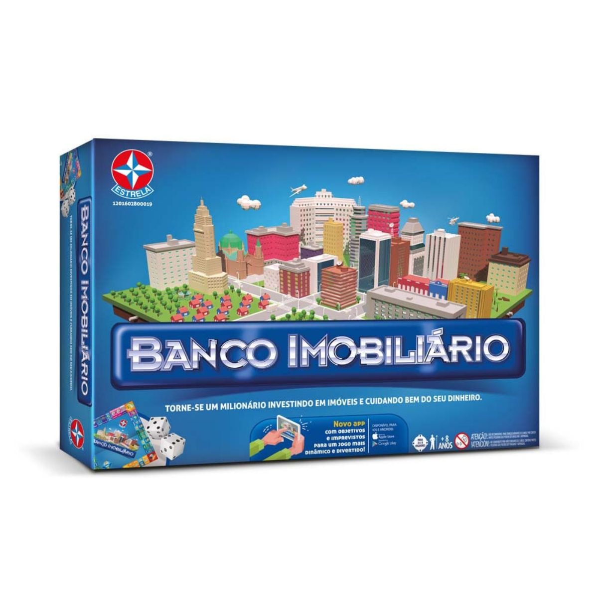 Jogo Banco imobiliário Clássico com tabuleiro e cartas - Estrela
