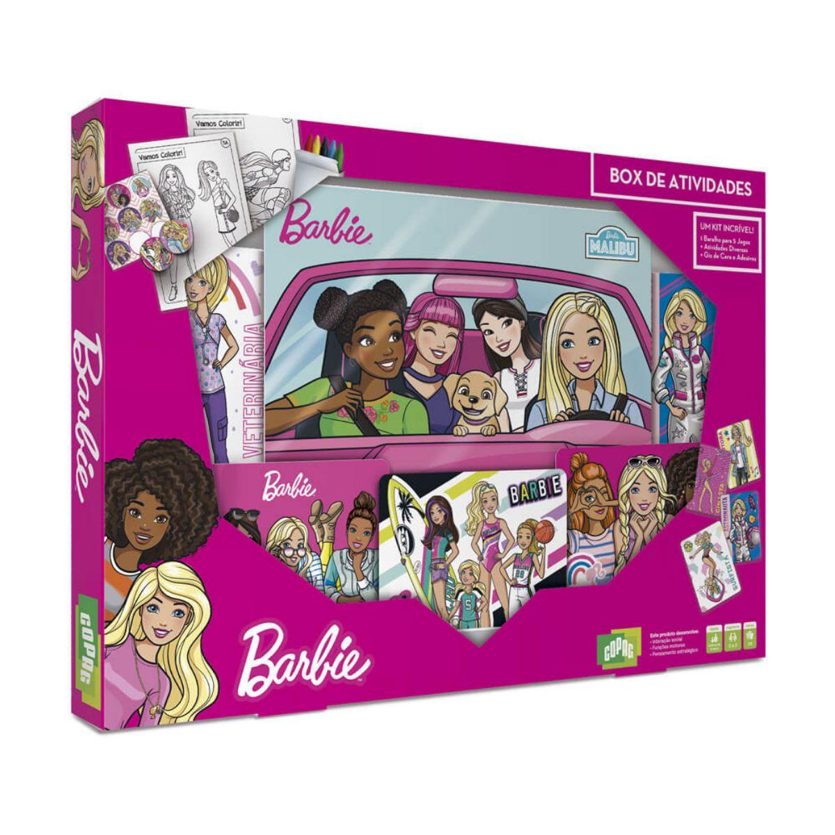 Jogo Box de Atividades da Barbie com diversos Acessórios