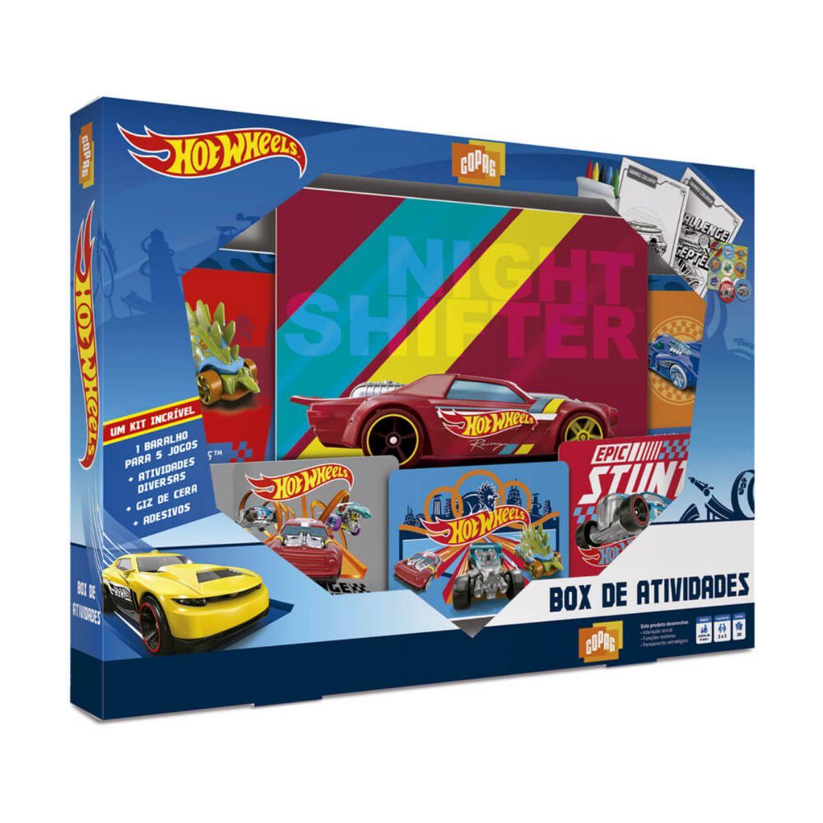 Jogo Box de Atividades da Hot Wheels com diversos Acessórios