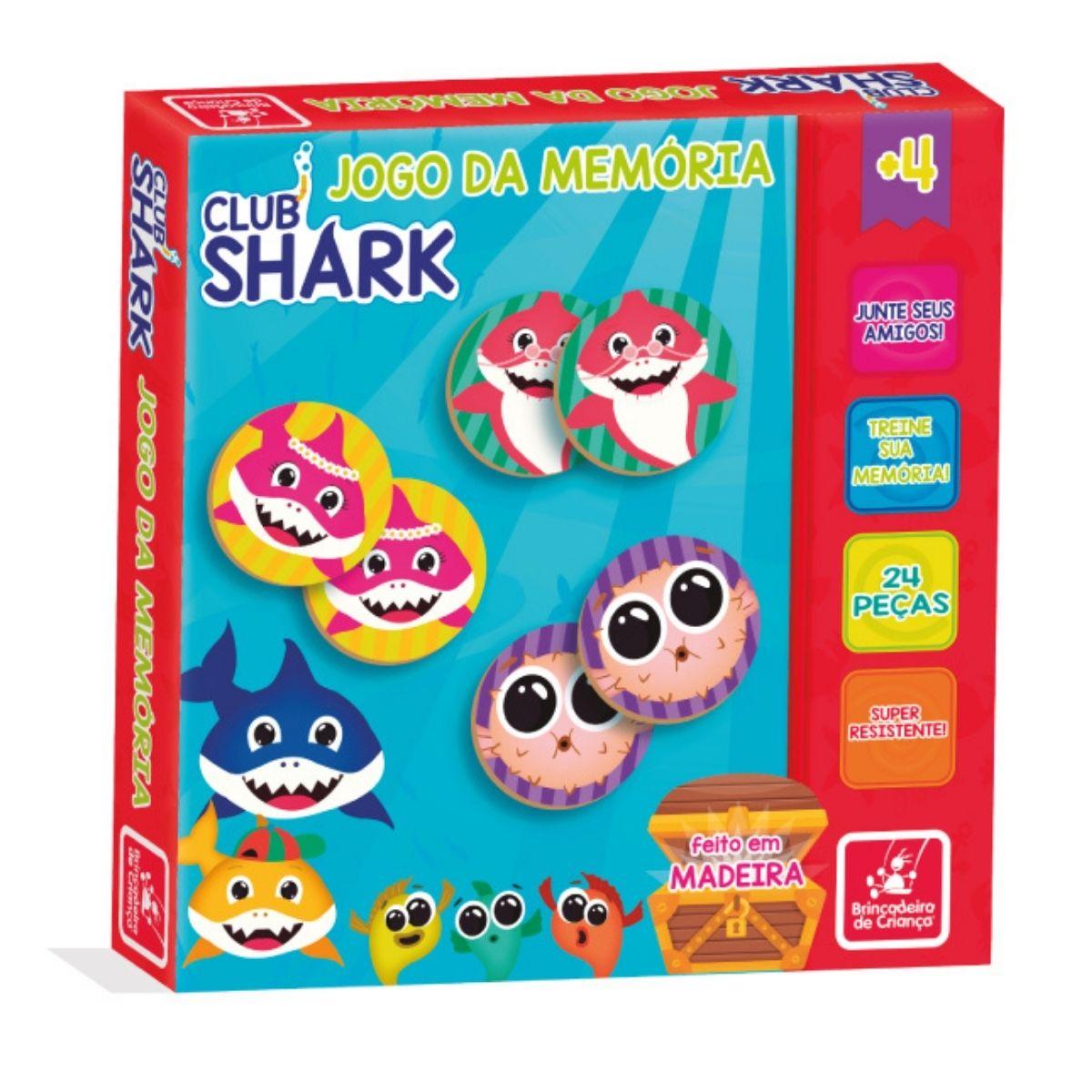 Jogo da Memória Club Shark 24p