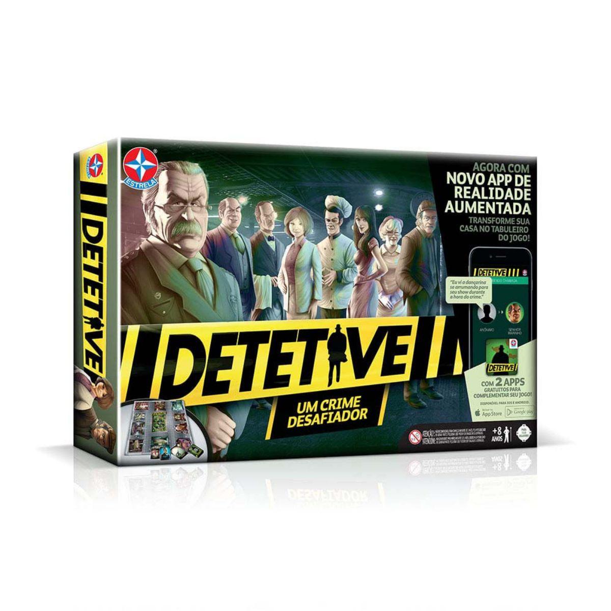 Jogo de Investigação Detetive com cartas e tabuleiro - Estrela