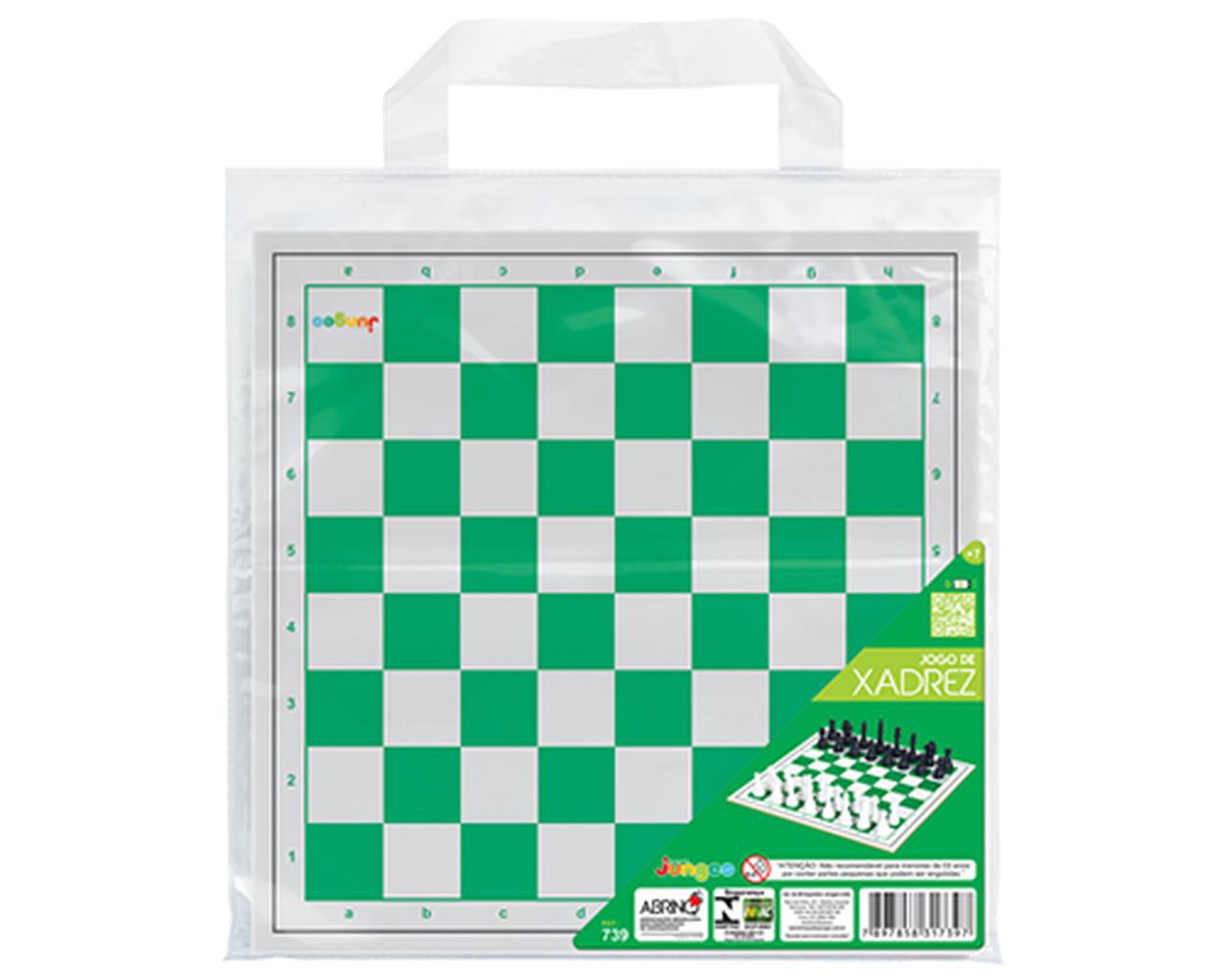 Jogo de Xadrez com Sacola de Transporte Junges