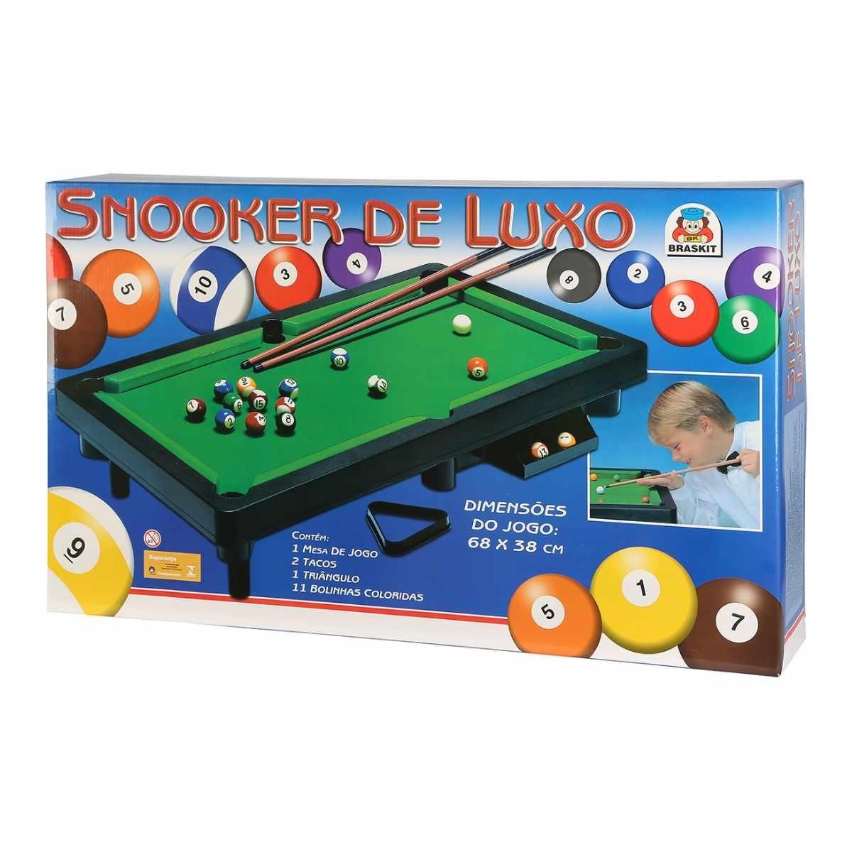 Jogo Snooker de Luxo Divertido