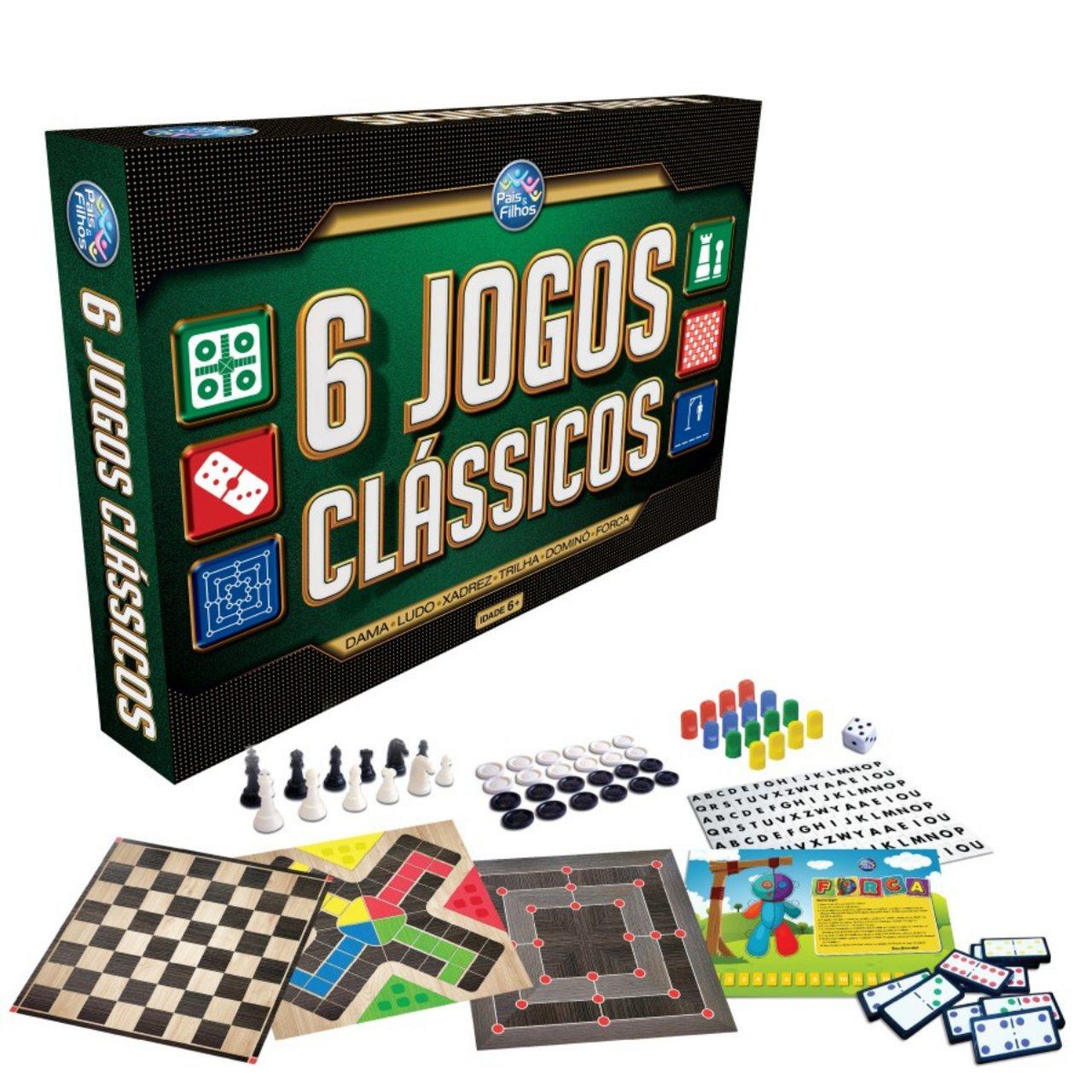 Jogos Clássicos caixa com 6 jogos de estratégia