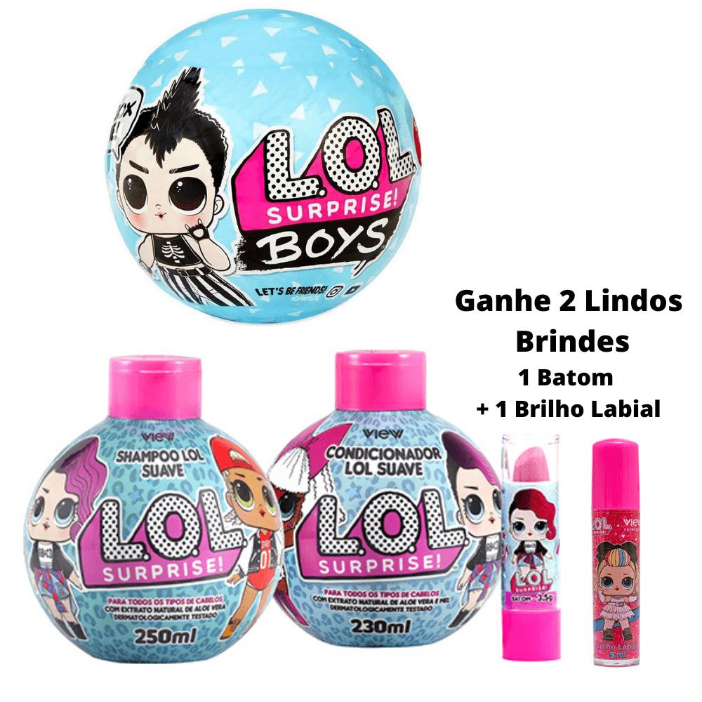Kit Boneco LoL Boys + Shampoo e Condicionador GANHE 2 LINDOS BRINDES