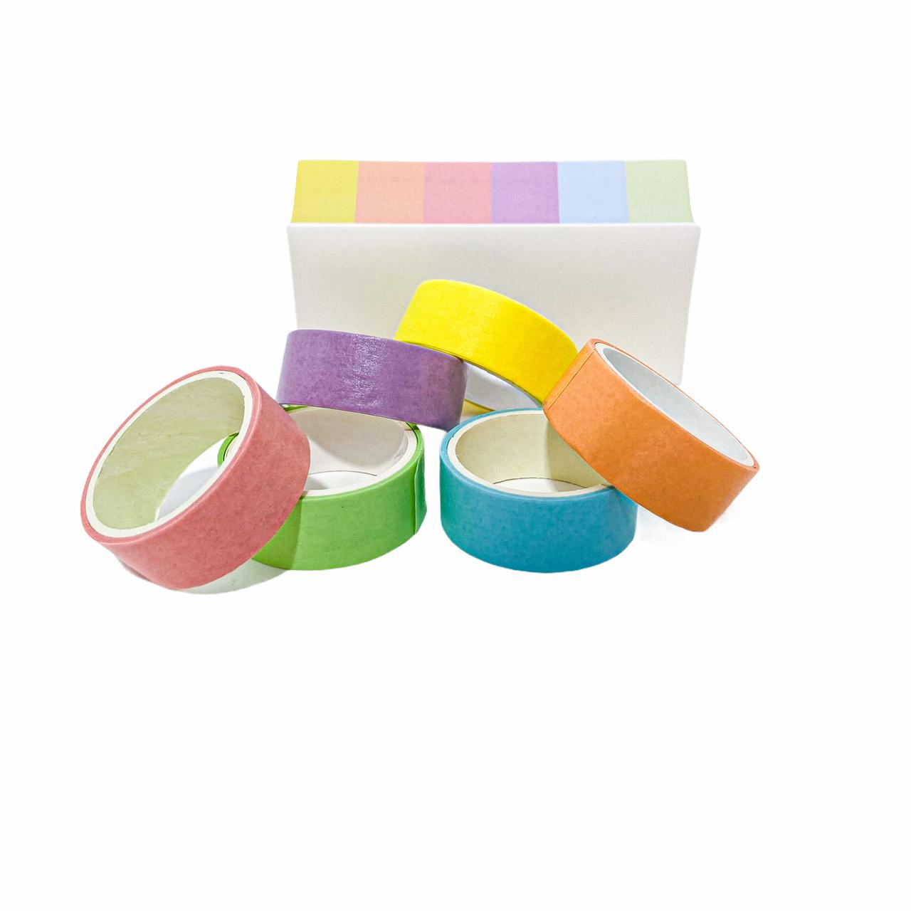 Kit com 8 Fitas Adesivas em Tons Pastel Moure Jar
