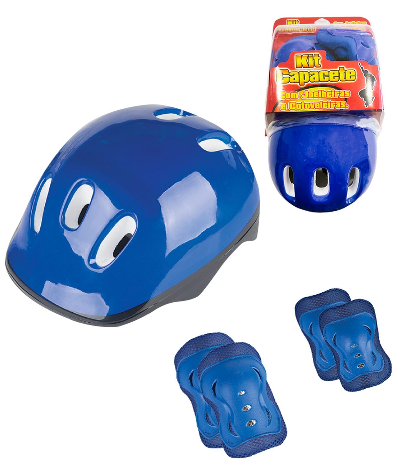 Kit de Proteção Capacete, Cotoveleiras e Joelheiras Fenix