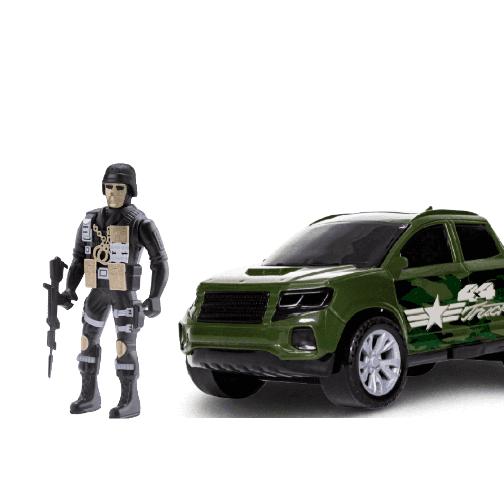 Kit Force WarFare Com Pickup e Moto - Samba Toys