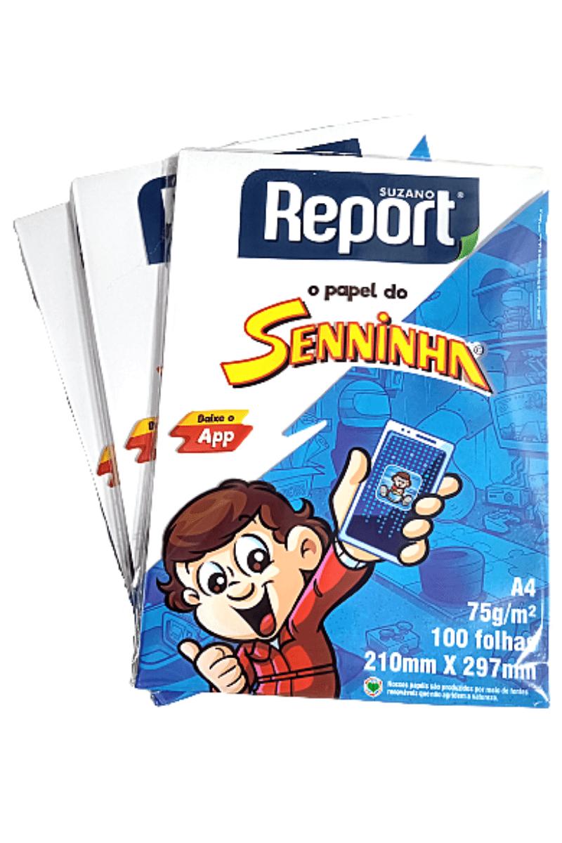 Kit Papel Sulfite Seninha c/ 300 folhas - Suzano Report