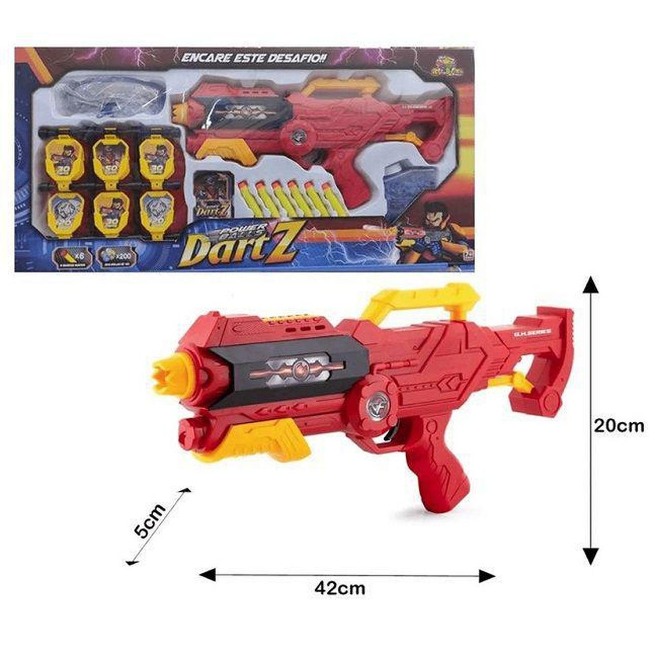 Lança Dardos Power Balls Dart Z 200 Bolinhas em Gel Art Brink - Ref.: ZB485