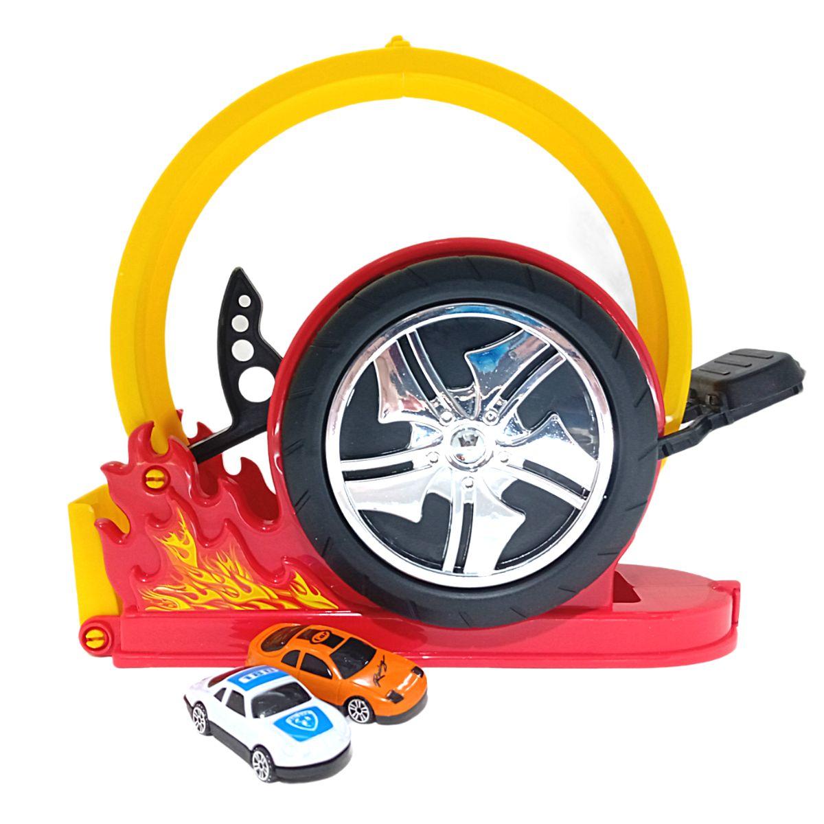 Lançador de Carrinhos Crazy Streets Radical Bs Toys