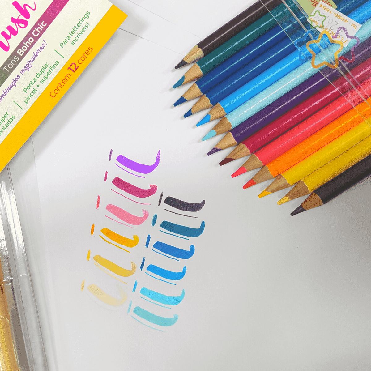Lápis de Cor 12 cores Tons Boho Chic - Tris