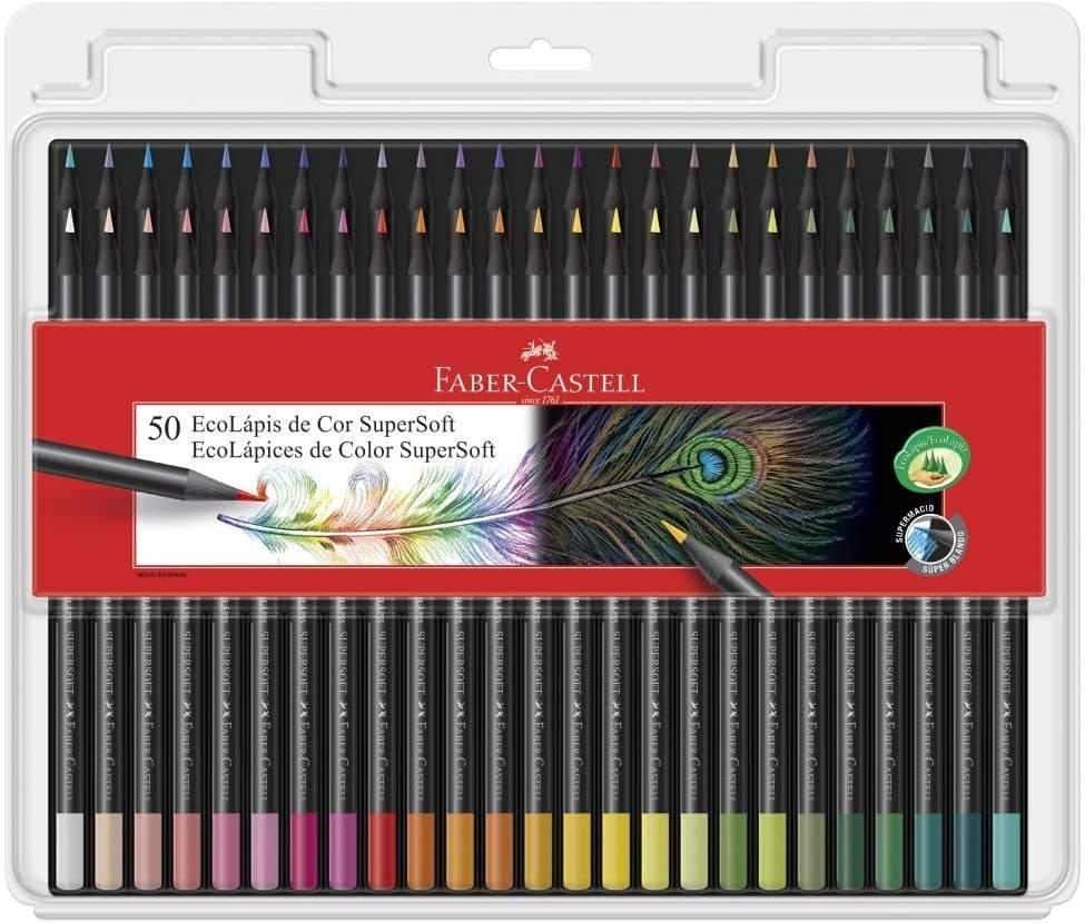 Lápis de Cor Faber Castell 50 cores
