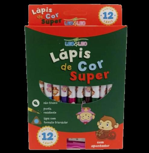 LAPIS DE COR LEO LEO 12 CORES SUPER
