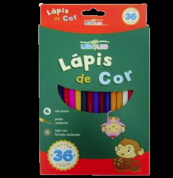 Lapis de Cor 36 Cores Sextavado - Leo Leo
