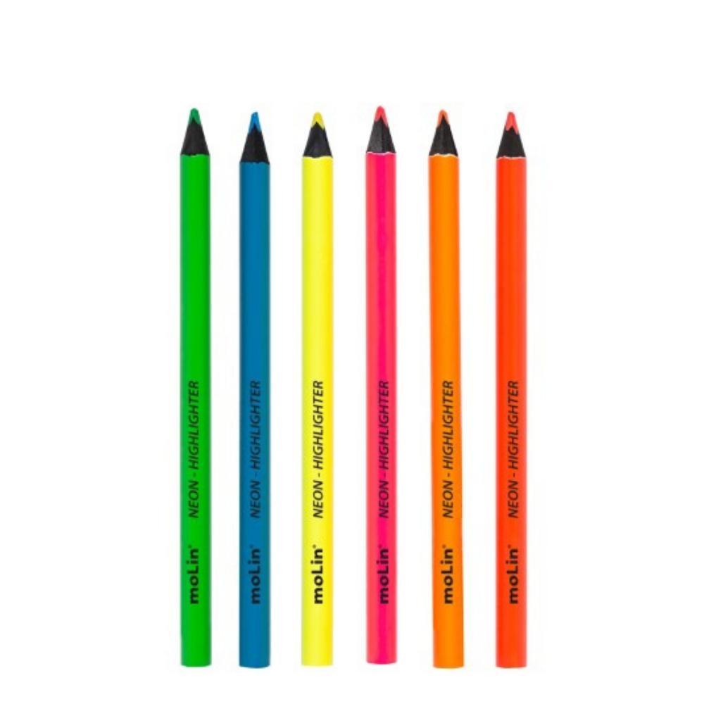 Lápis de cor Marca texto Neon - Molin