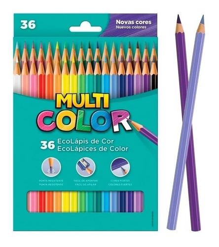 Lápis de Cor Multicolor 36 Cores EcoLápis Faber Castell