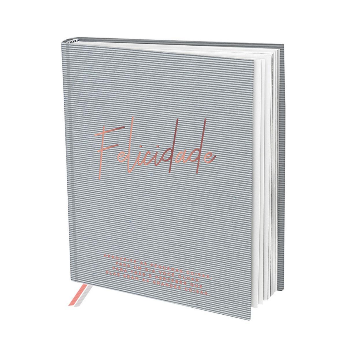 Livro de Anotações Diária Autoajuda de Felicidade com 2 marca pagina