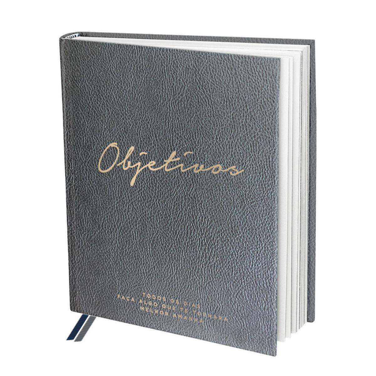 Livro Objetivos de Anotações Autoajuda 160páginas/2 marca páginas