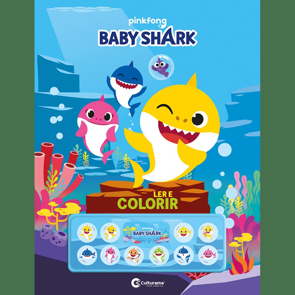LIVRO CULTURAMA LER E COLORIR C/ADES BABY SHARK