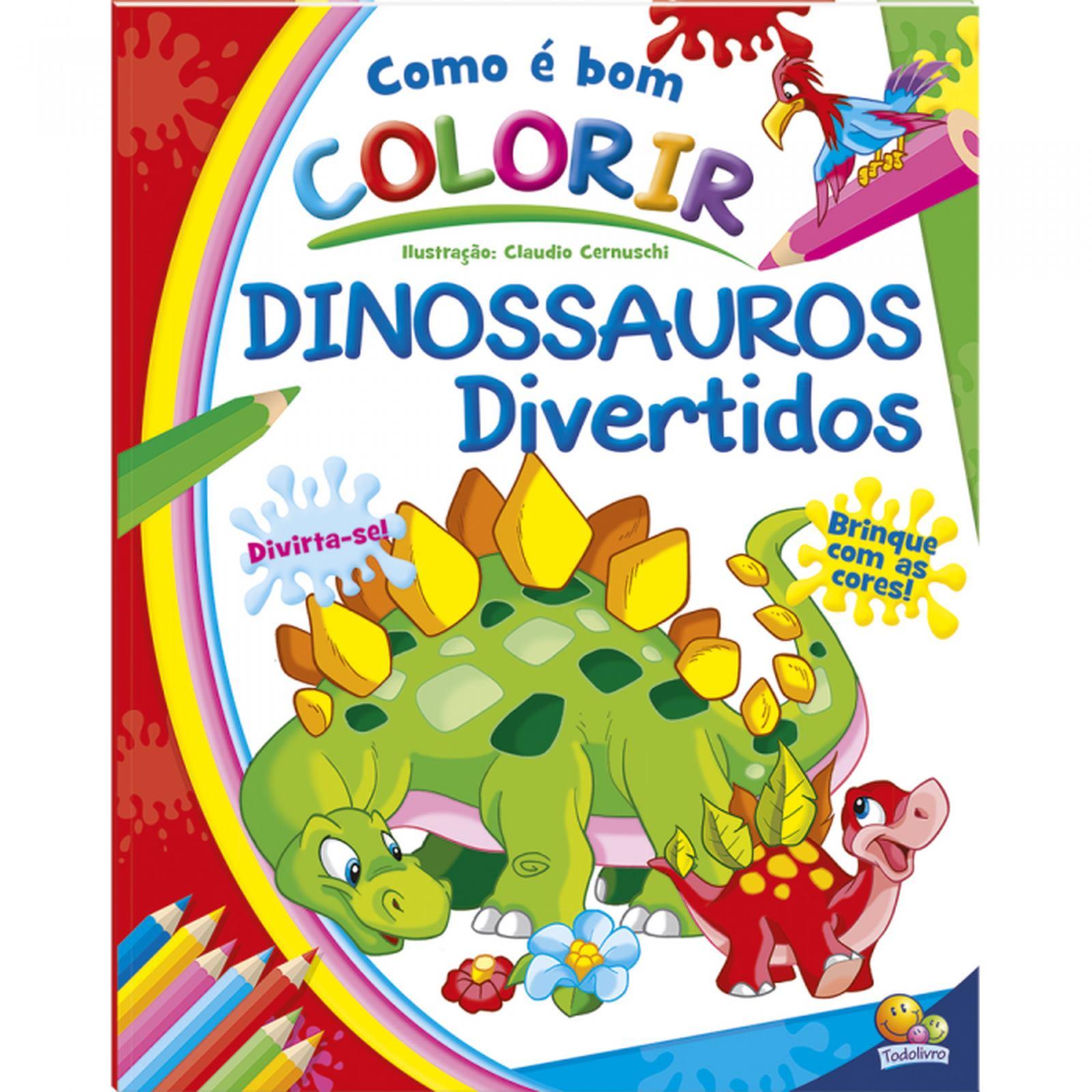 Livro de Colorir com Historia: Dinossauros Divertidos