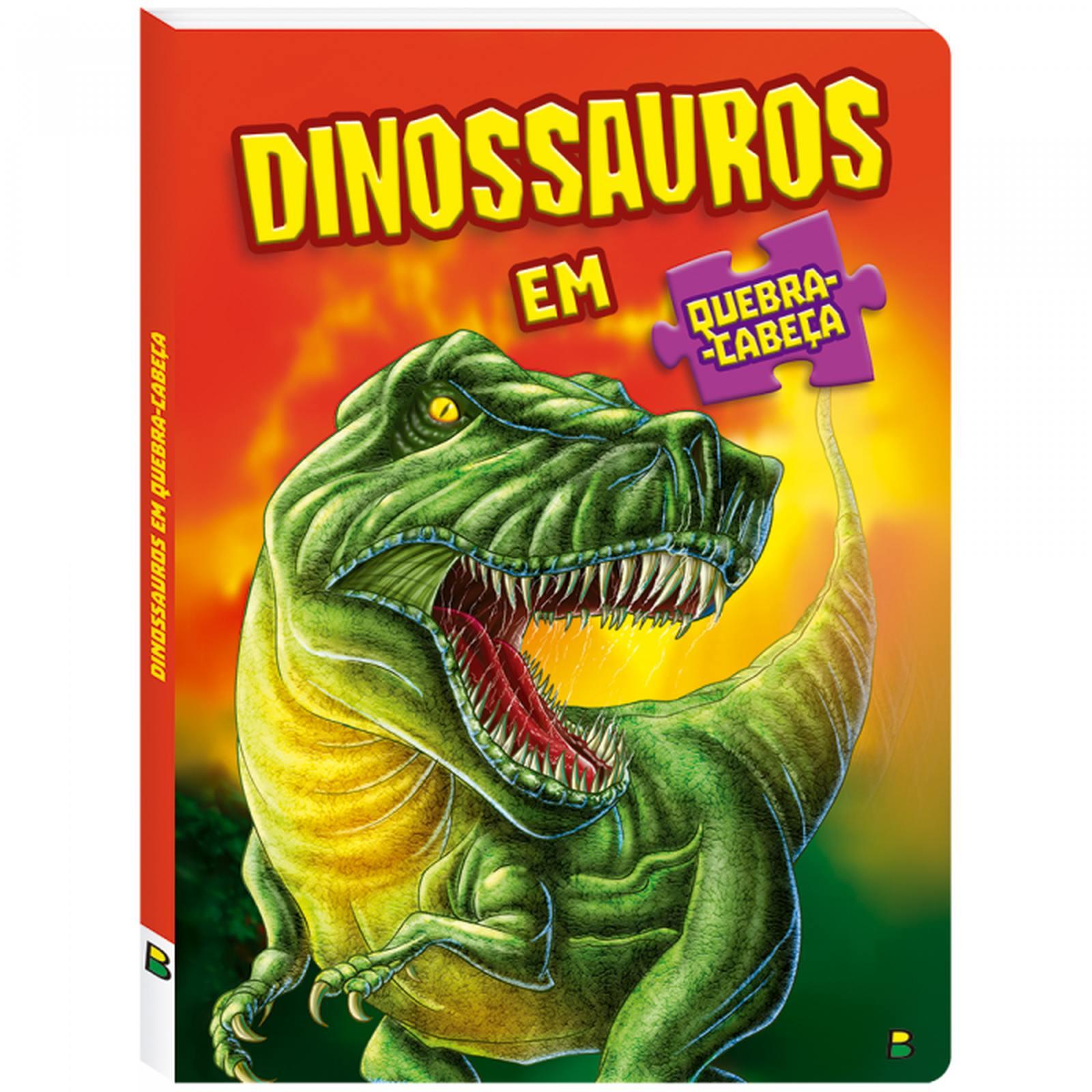 Livro em Quebra Cabeça Dinossauros Todolivro
