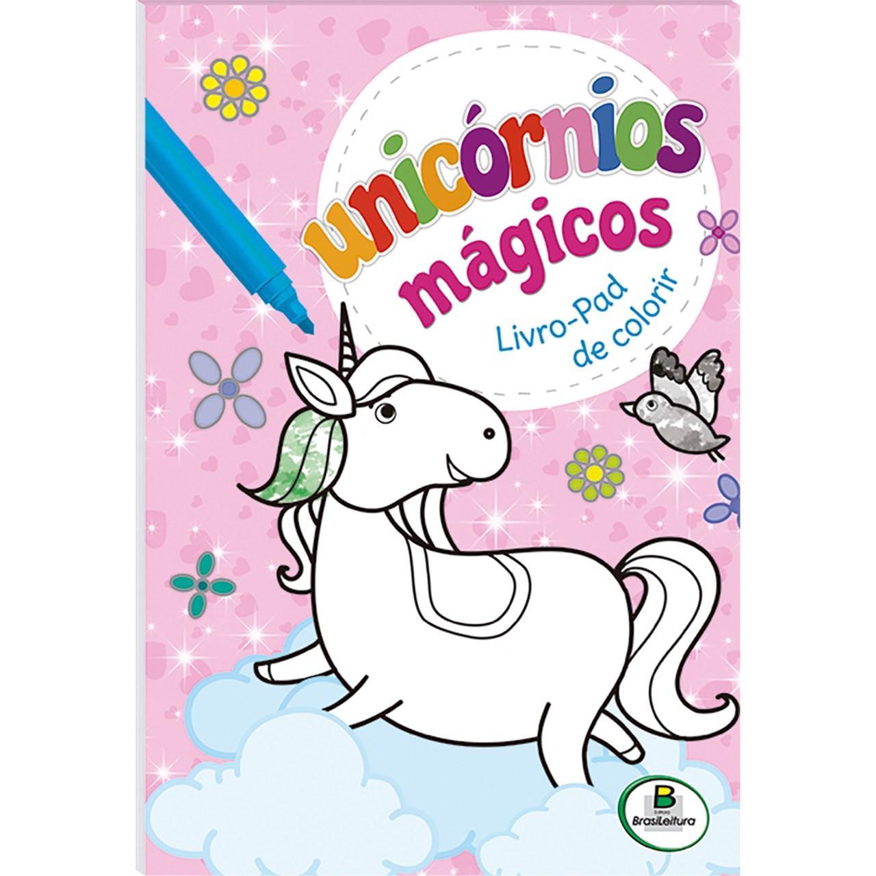 Livro-Pad Unicórnios Mágicos Livro de Colorir