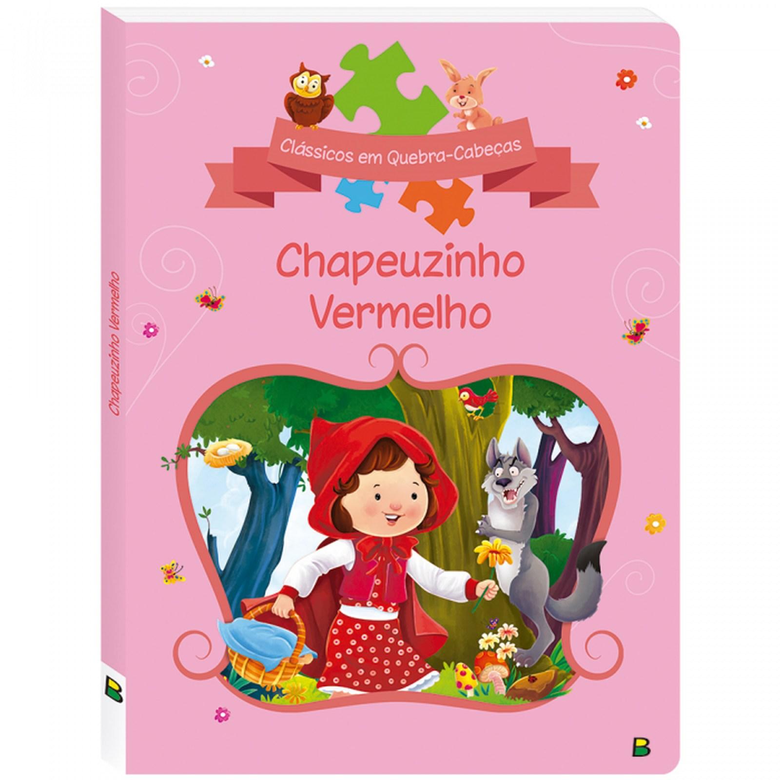 Livro Quebra Cabeça Chapéuzinho Vermelho