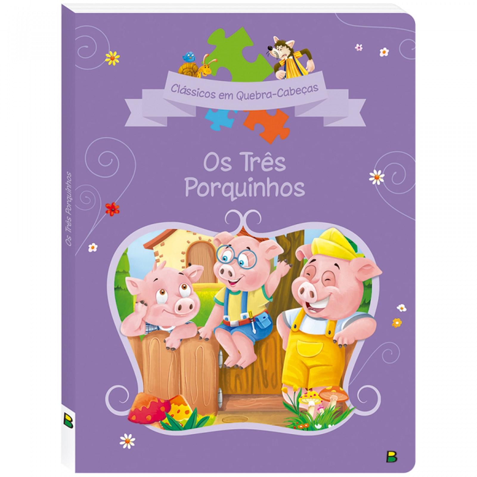Livro Quebra Cabeça Os Três Porquinhos