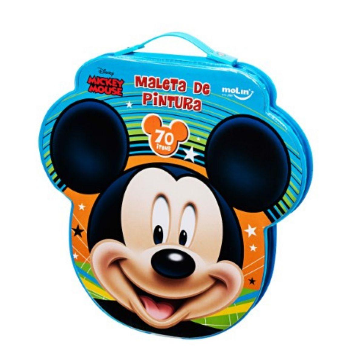 Maleta De Pintura Mickey Mouse (70 itens)  Molin
