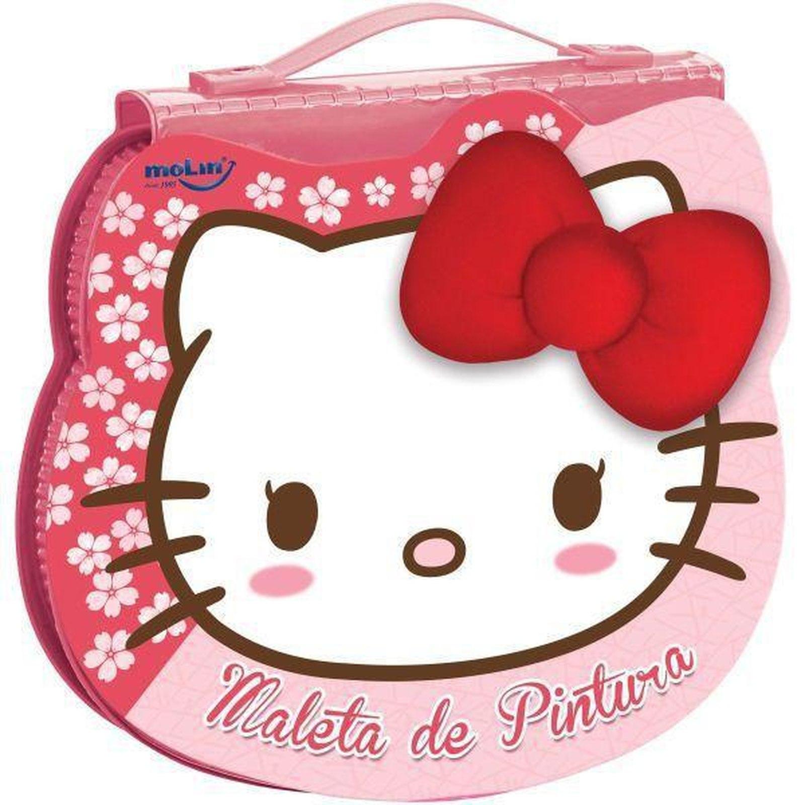 Maleta de Pintura Hello Kitty 70 Itens Molin - Ref.: 21637