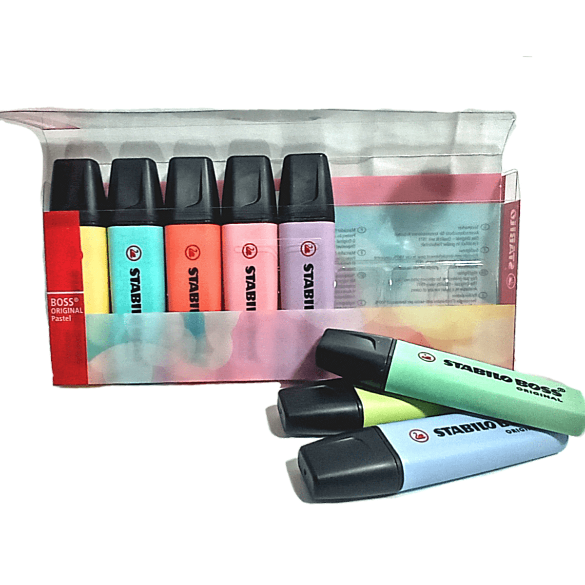 Marca Texto Stabilo Boss Kit Com 8 cores leves