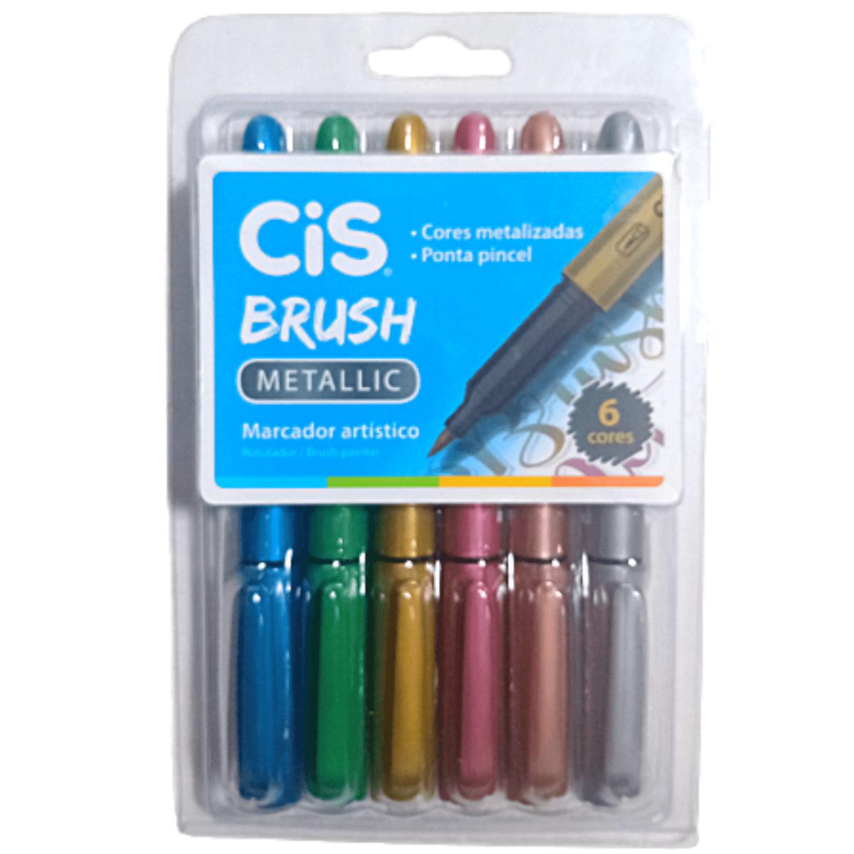 Marcador Artístico CIS Brush Metallic - CIS