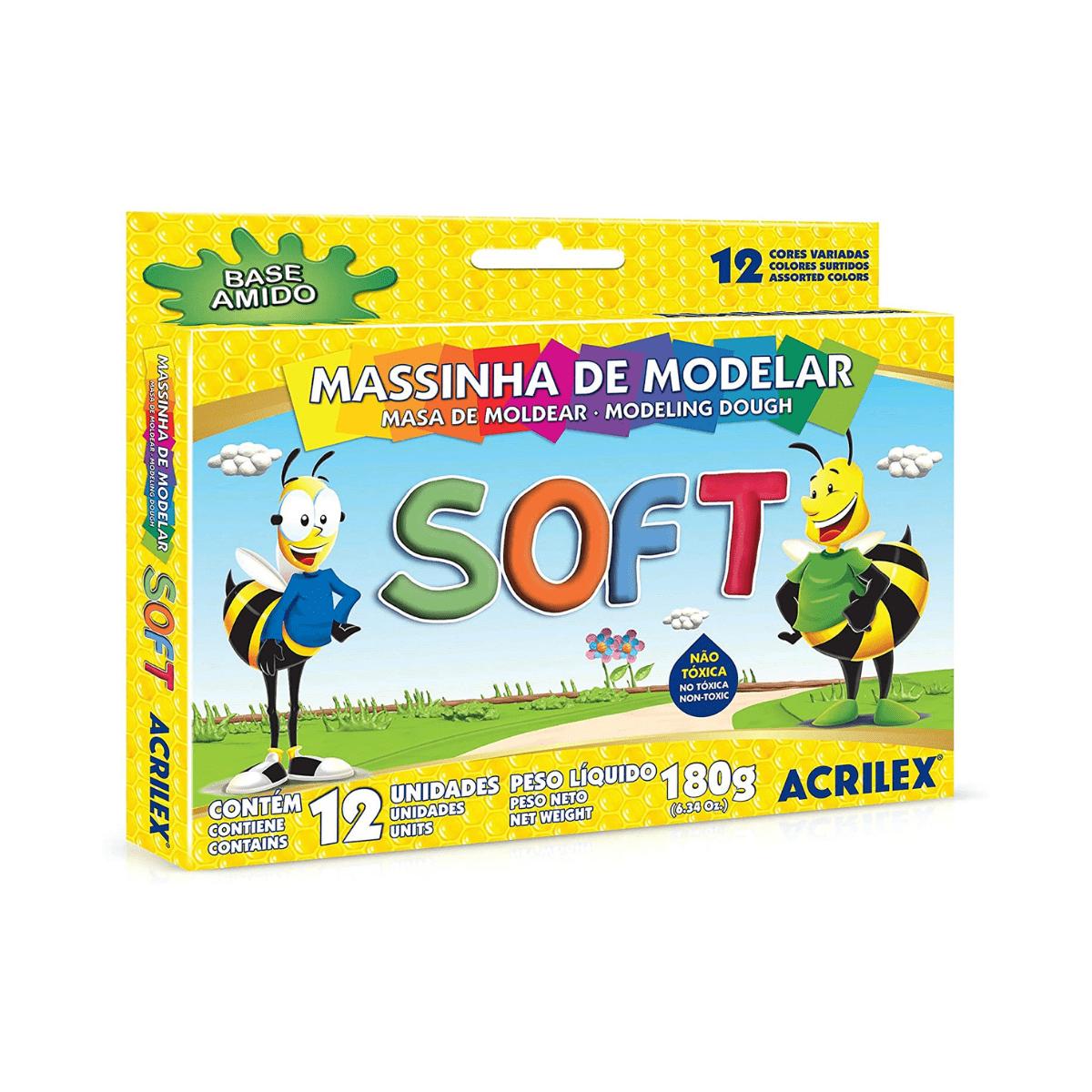 Massinha Soft c/12 - Acrilex