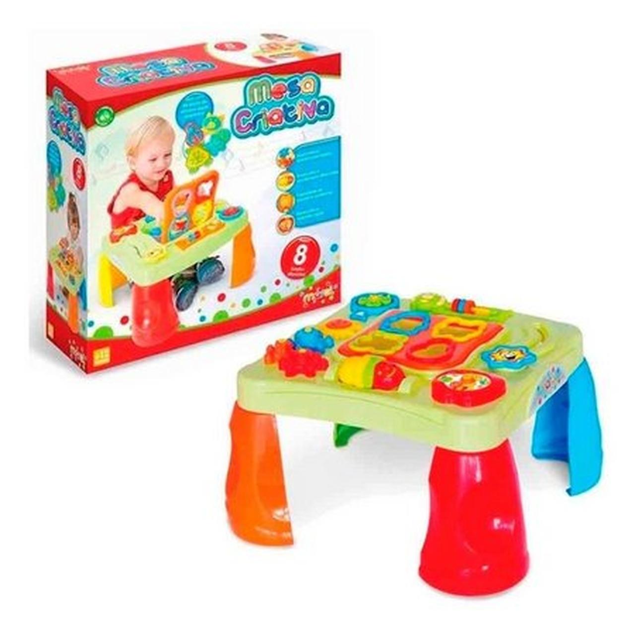 Mesinha de Atividades Infantil - Mesa Criativa Maral - Ref.: 4002
