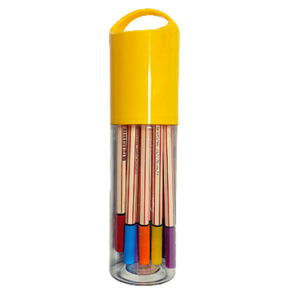 Caneta Microline 0.4 Kit Com 12 cores - Compactor
