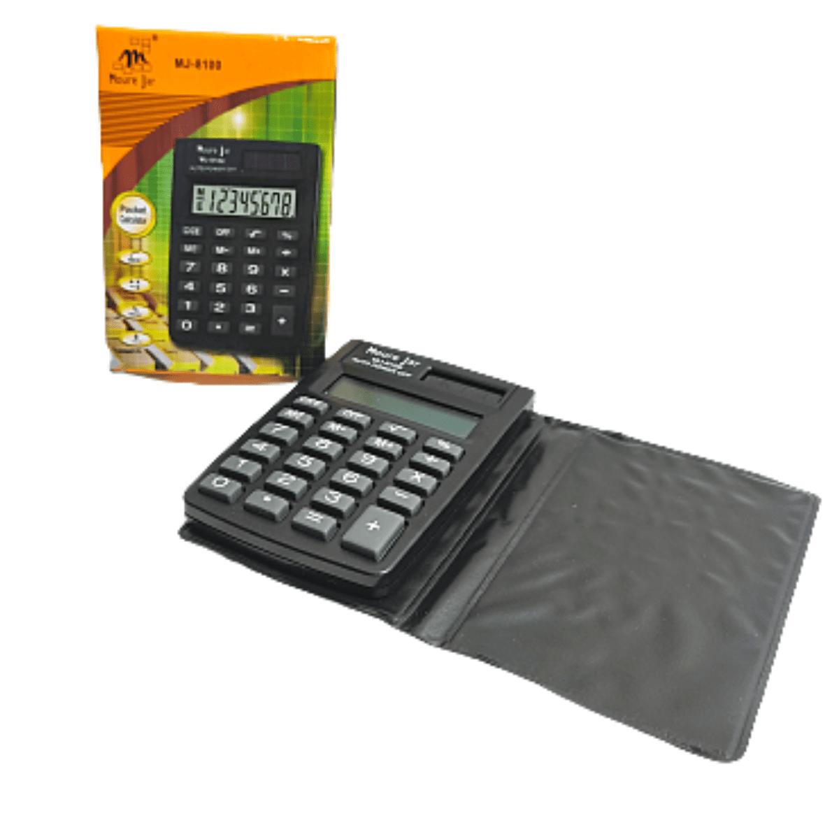 Mini calculadora Portátil Eletrônica com Capa 8 dígitos  M J - 8100