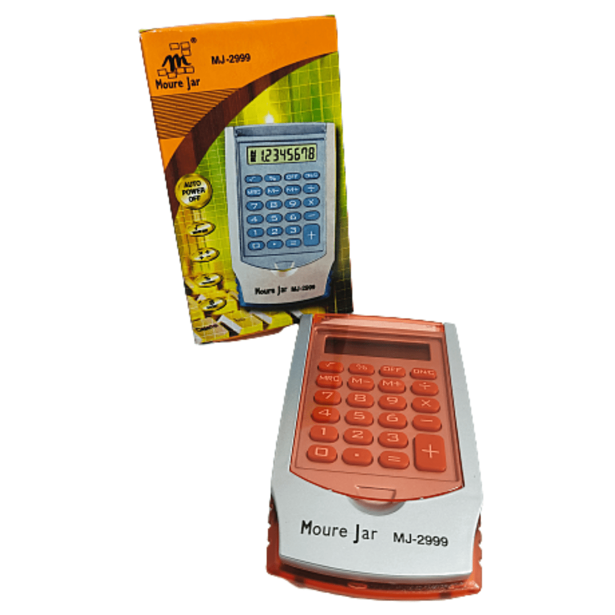 Calculadora Portátil Mini Eletrônica com Proteção Colorida mj-2999
