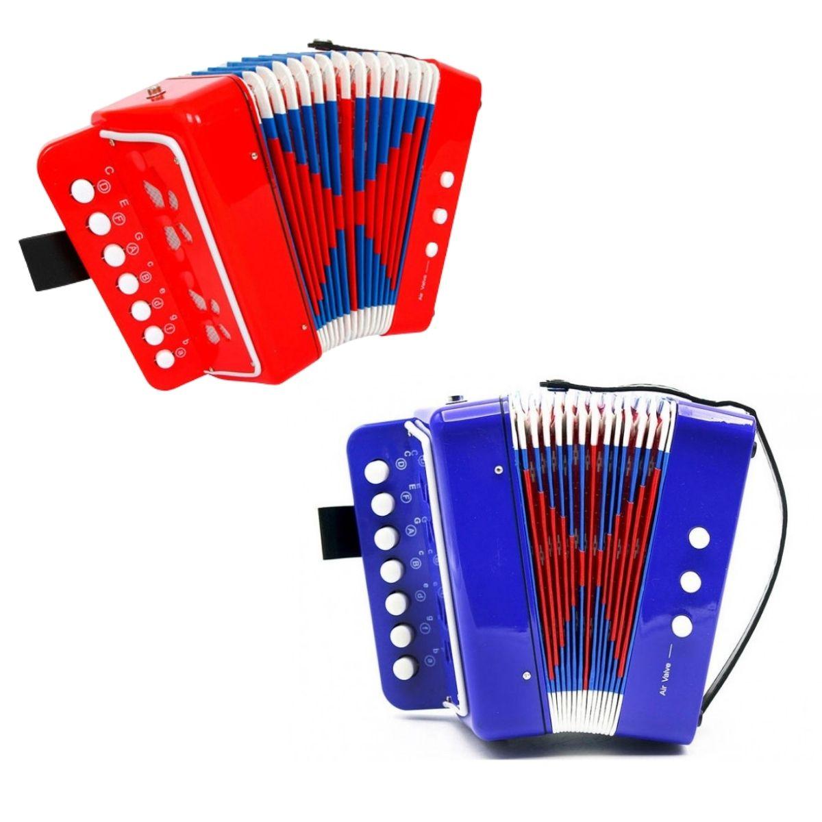 Mini Sanfona Acordeon Infantil Musical Colibri
