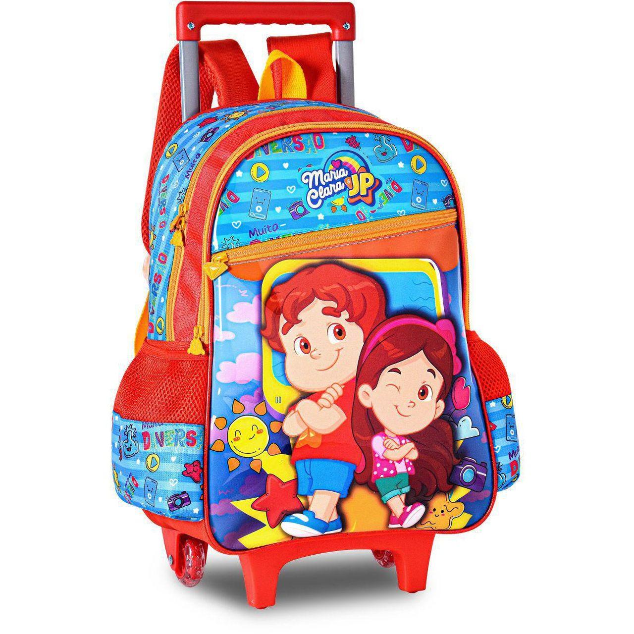 Mochila Escolar Infantil Maria Clara e JP Clio
