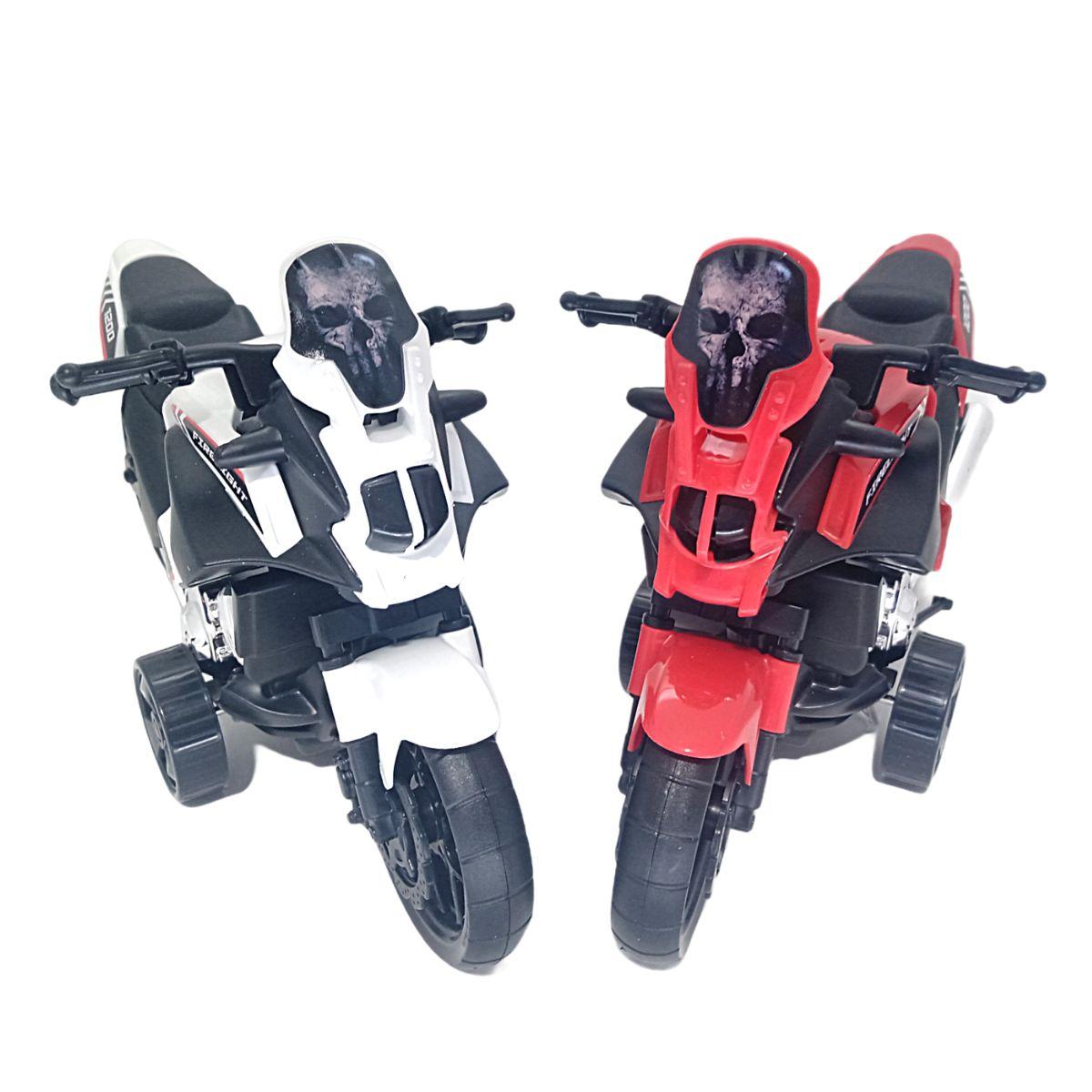 Moto de Brinquedo Fire Light C/ Fricção 2 modelos