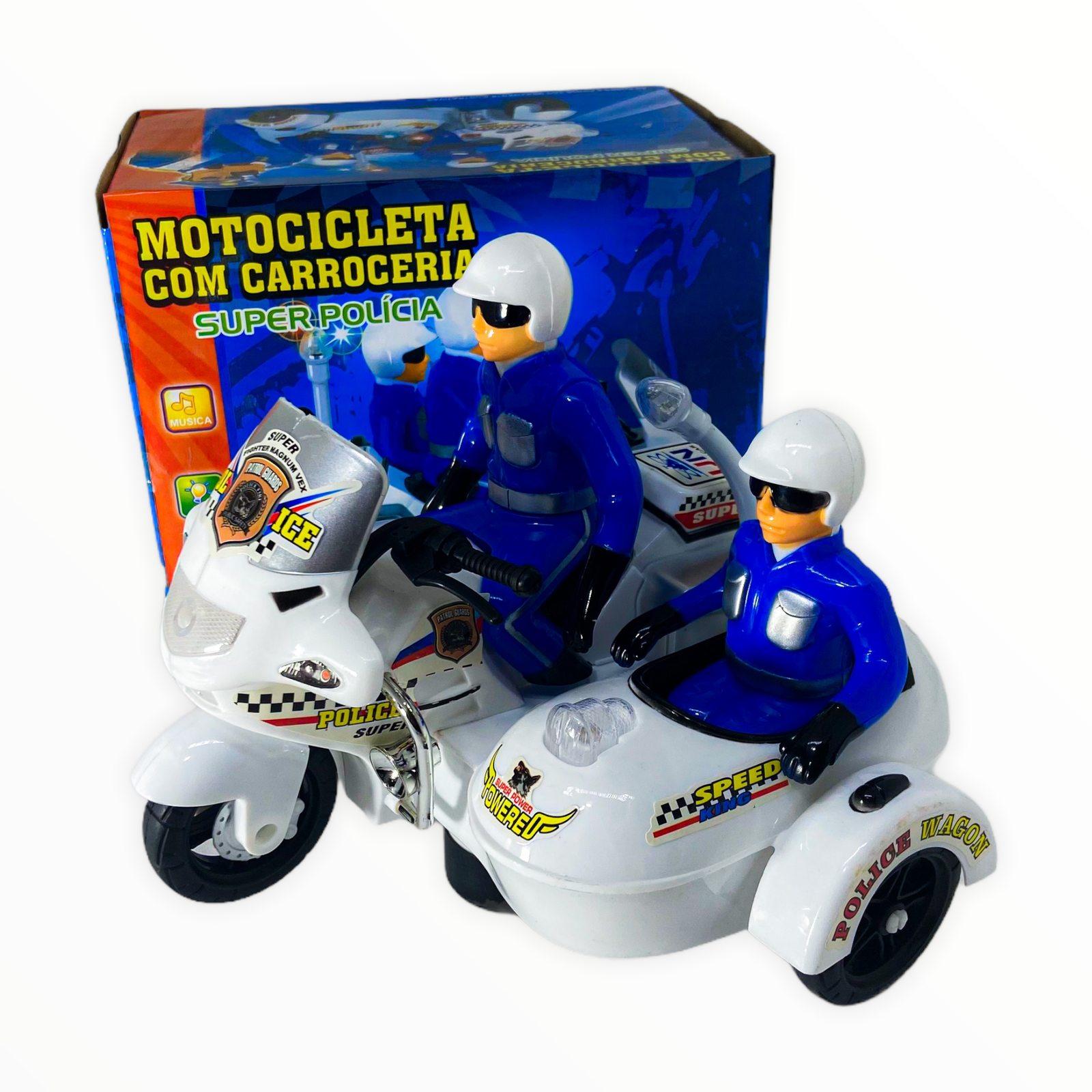Moto Policial Com Carroceria Luzes e Sons Fenix