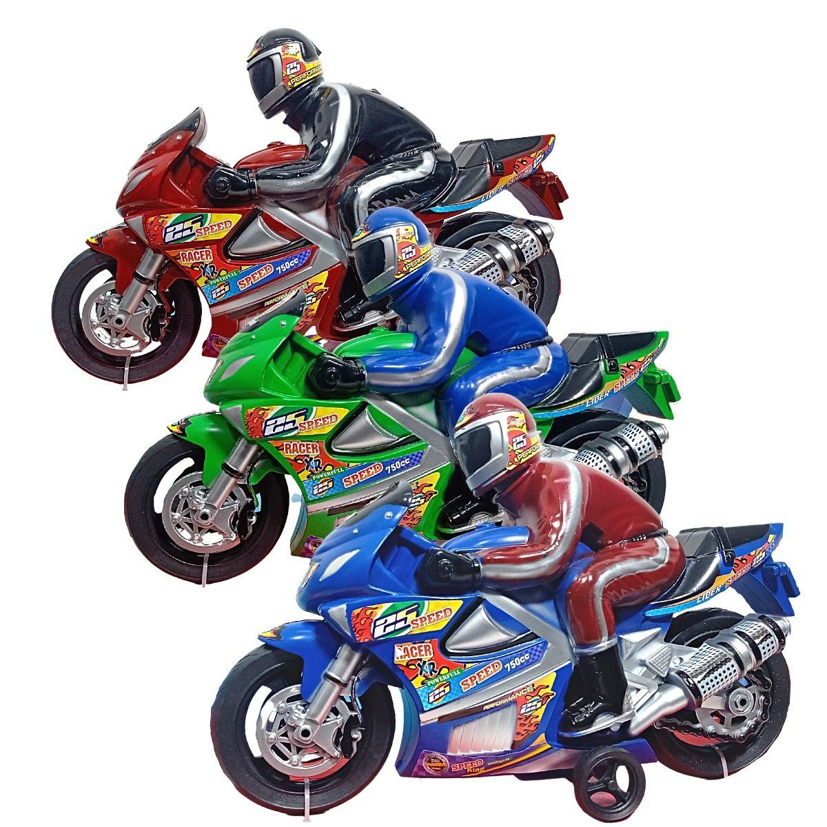 Moto Racer com Som de Motor Cores Diversas