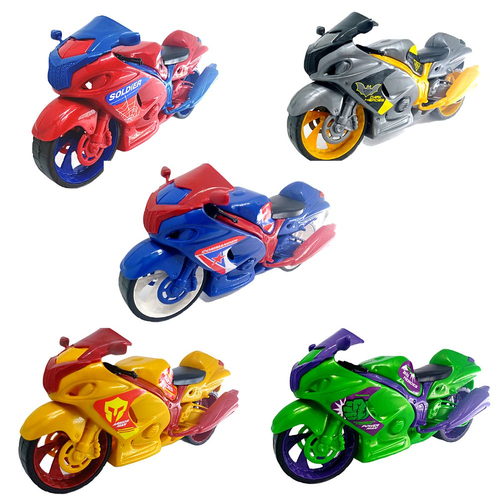 Motocycle Moto Avante Super Heróis C/ 5 Modelos