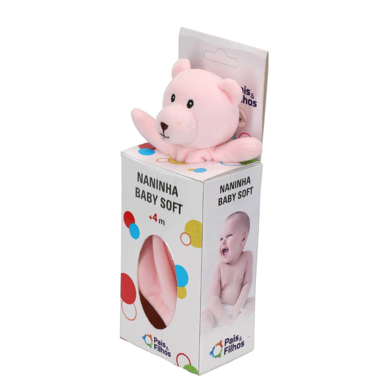 Naninha Rosa Baby Soft Ursinho Fofo